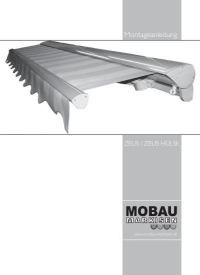 Montageanleitung Mobau Markisen
