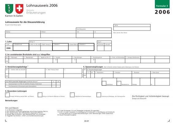 lohnausweis st. gallen