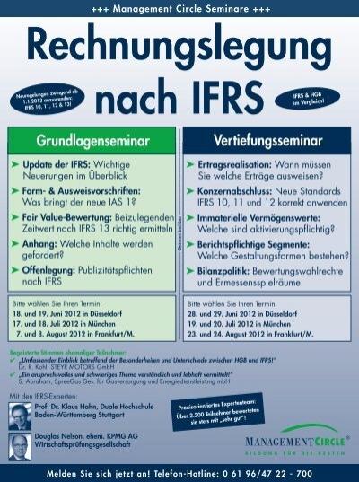 Seminar Rechnungslegung Nach Ifrs Management Circle Ag