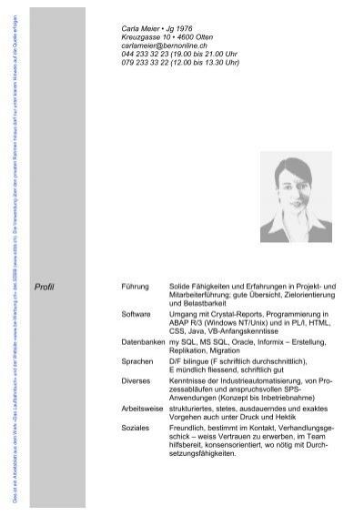 Lebenslauf mit Titel «Berufliche Laufbahn» für Inserate-be-Werbung