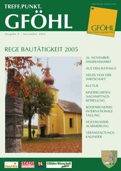 Herzlich willkommen in Gfhl! - Stadtgemeinde Gfhl - Gfhl