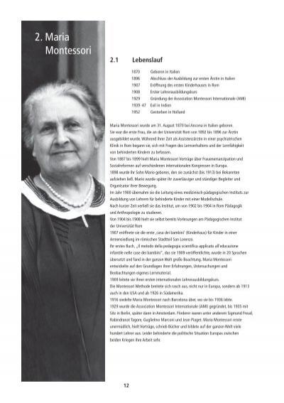 2. Maria Montessori 2. Ma Mo - Montessori Schule