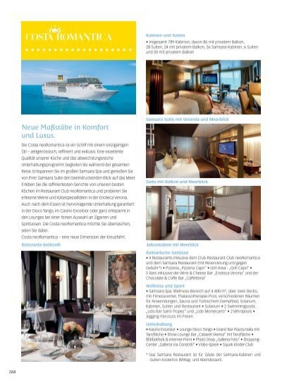costa neoromantica deck plan pdf
