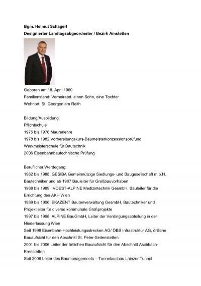 Lebenslauf Helmut Lange