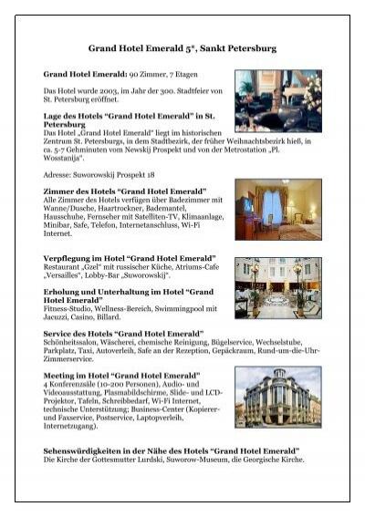Grand Hotel Emerald 5 Sankt Petersburg Russland Anders