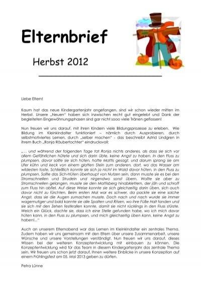 Elternbrief herbst 2012 familienzentrum st martin for Herbstprojekt im kindergarten