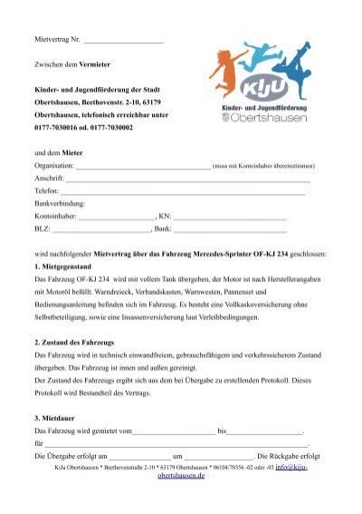 Mietvertrag - Kinder- und Jugendförderung Obertshausen