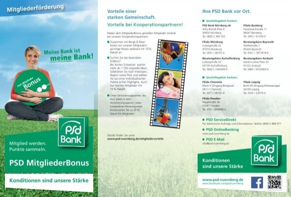 flyer zum mitgliederbonus programm psd bank n rnberg eg. Black Bedroom Furniture Sets. Home Design Ideas