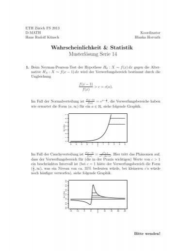 Wahrscheinlichkeit & Statistik Musterlösung Serie ... - FIM - ETH ...
