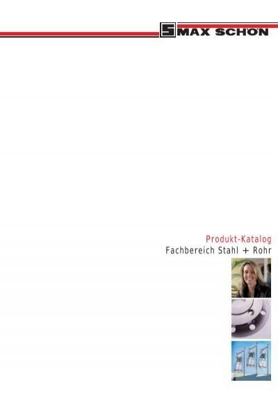 produkt katalog fachbereich stahl rohr max sch n ag. Black Bedroom Furniture Sets. Home Design Ideas