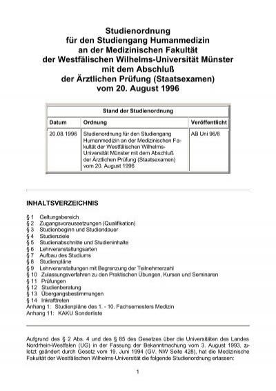 1. staatsexamen medizin