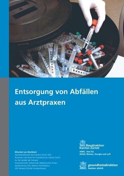 Entsorgung von abf llen aus arztpraxen pdf kanton z rich - Mobel entsorgung gratis ...