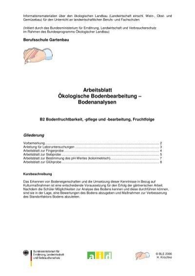 Arbeitsblatt Ökologische Bodenbearbeitung ... - Oekolandbau.de