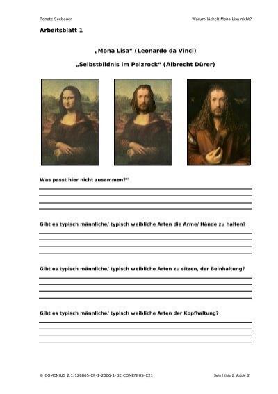 "Arbeitsblatt 1 ""Mona Lisa"" (Leonardo da Vinci ... - Grimus.or.at"