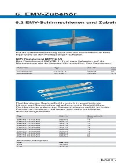 6. EMV-Zubehör 6.2 EMV-S