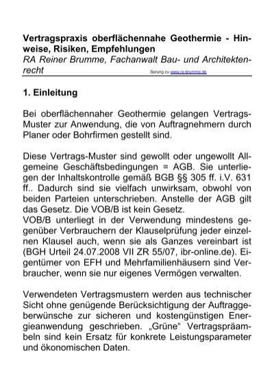 Vertragspraxis Reiner Brumme