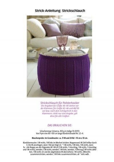 strick anleitung strickschlauch. Black Bedroom Furniture Sets. Home Design Ideas