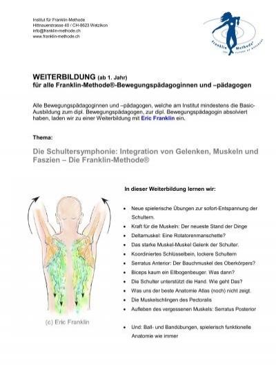 Integration von Gelenken, Muskeln und Faszien - Franklin-Methode