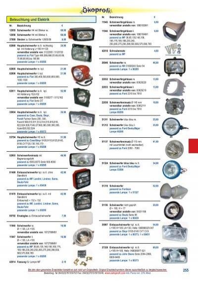 Arbeitsscheinwerfer eckig  Nahfeldausleuchtung H3 für Fendt 200 800 Serie 300