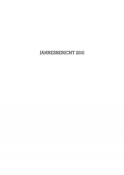 Jahresbericht 2010 Verein Tiroler Landesmuseum Ferdinandeum