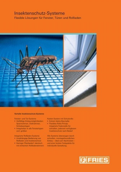 Fries Türen insektenschutz systeme fries