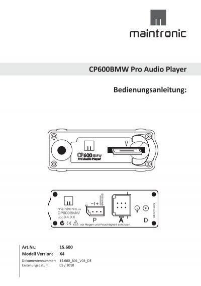 cp600bmw pro audio player bedienungsanleitung. Black Bedroom Furniture Sets. Home Design Ideas