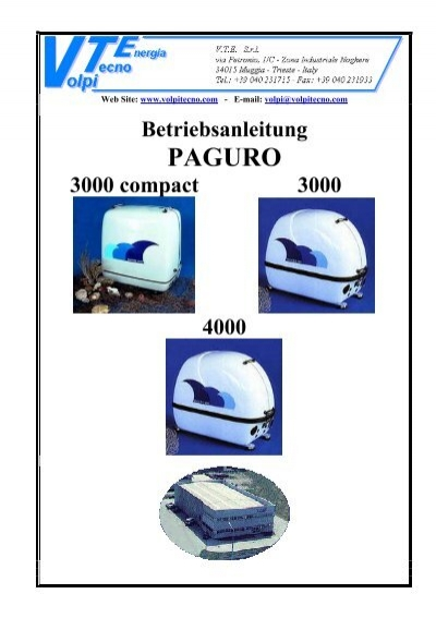 stromgenerator vte paguro rh yumpu com paguro 3000 manual Paguro 4000