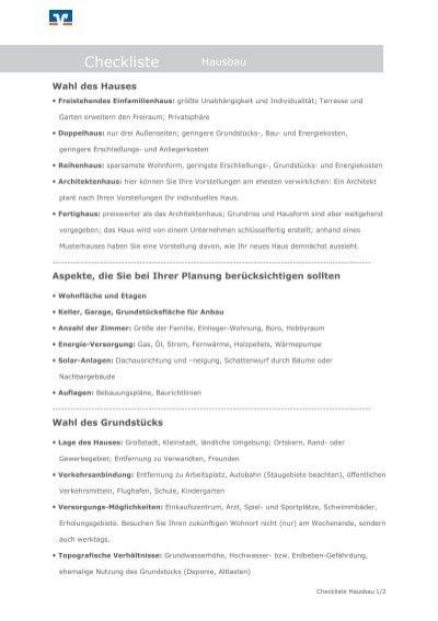 checkliste hausbau pdf. Black Bedroom Furniture Sets. Home Design Ideas