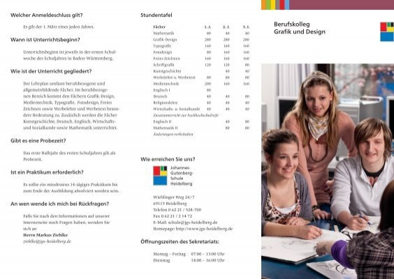 Berufskolleg grafik und design johannes gutenberg schule for Design schule