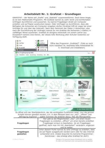 Arbeitsblatt Nr. 1: Grafstat – Grundlagen - goodschool.de