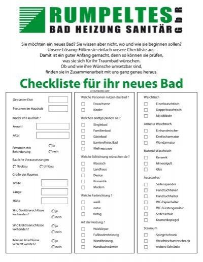 checkliste badezimmer - baumanagement, Badezimmer