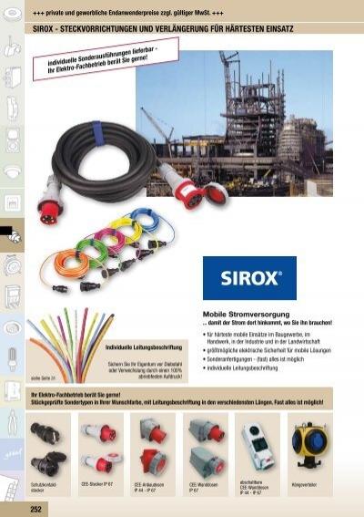 CEE-Anbauger/ätestecker SIROX gerade 16A IP 44