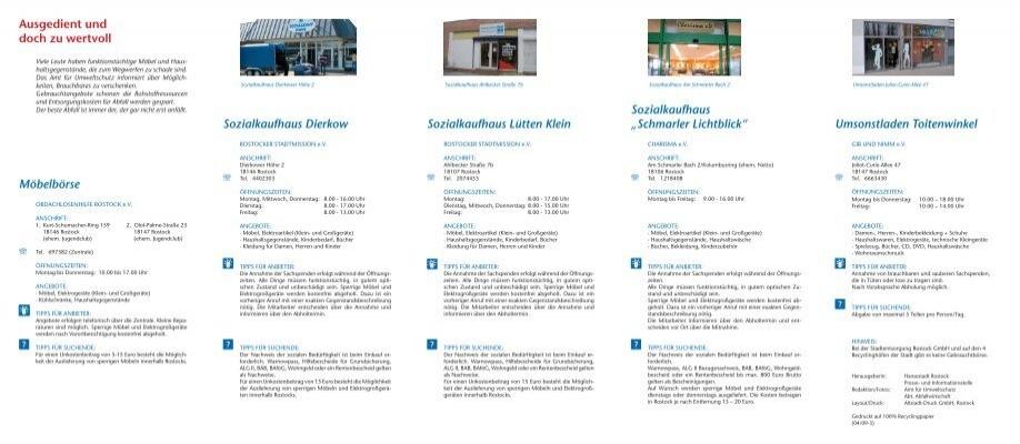 Sozialkaufhaus Rostock Lütten Klein