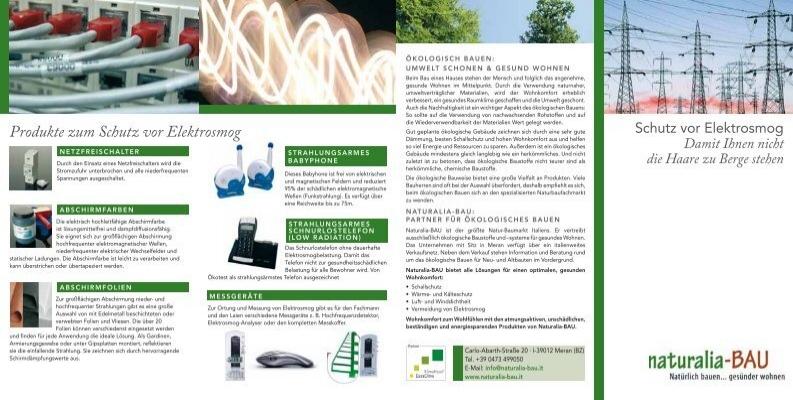 produkte zum schutz vor elektrosmog naturalia bau. Black Bedroom Furniture Sets. Home Design Ideas