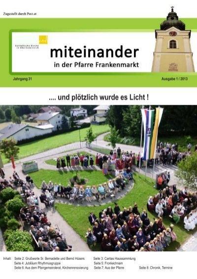 Gemeindeinformation - Marktgemeinde Frankenmarkt