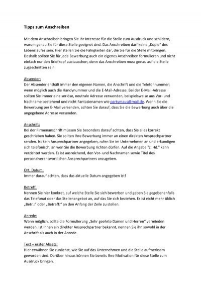 tipps zum anschreiben duales studium hessen - Anschreiben Formulieren