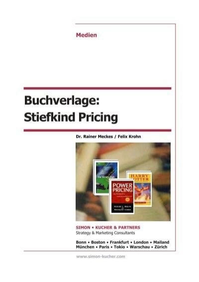 Buchverlage Stiefkind Pricing P65 Simon Kucher Partners