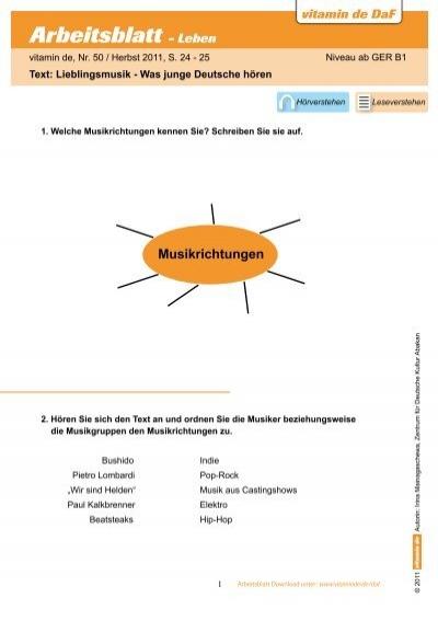 Arbeitsblätter herunterladen - Deutsch lernen mit vitamin de