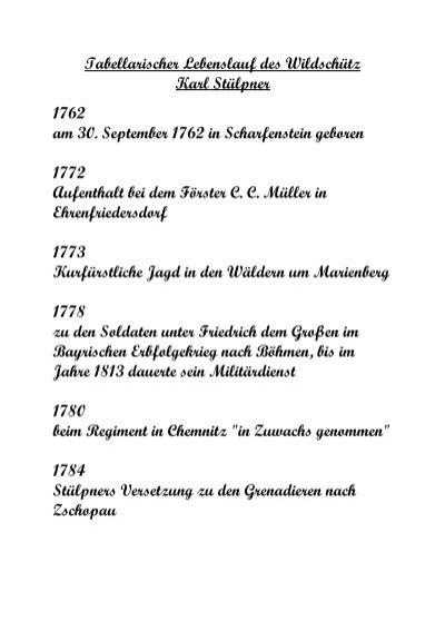 lebenslauf des wildschtz karl stlpner greifensteine - Karl Der Grose Lebenslauf
