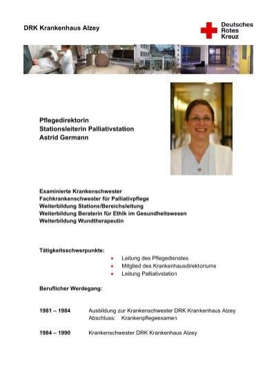 Lebenslauf Ellen Egelhof - DRK Krankenhaus Alzey