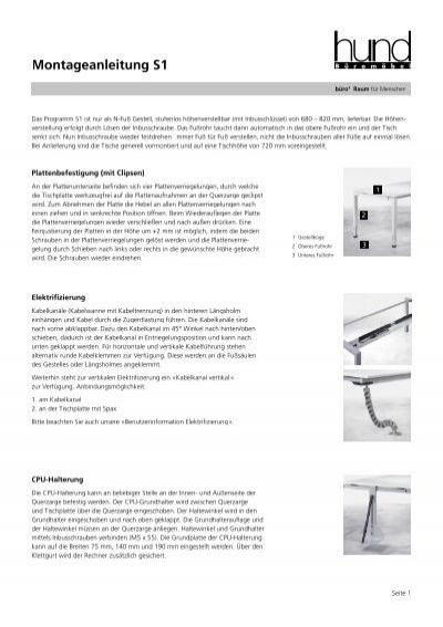 Montageanleitung S1 - Hund Büromöbel GmbH