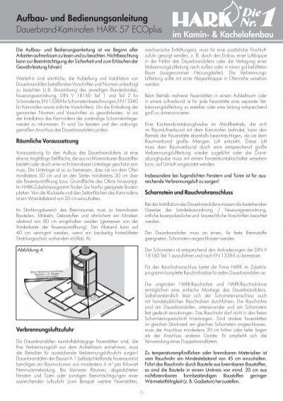 dauerbrand kaminofen hark 57 ecoplus aufbau und shop. Black Bedroom Furniture Sets. Home Design Ideas