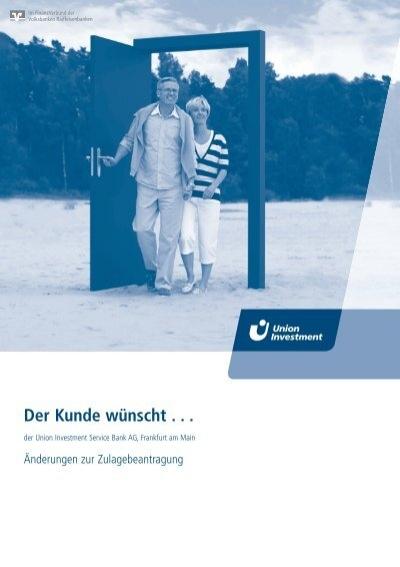 Union investment riester kinderzulage zh investmentgesellschaft deutschland sucht