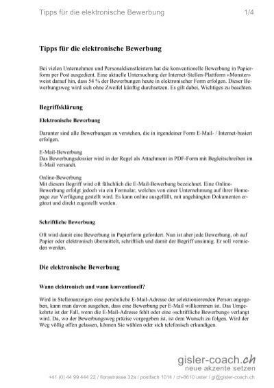 Tipps Für Die Elektronische Bewerbung 14 Tipps Coaching Point