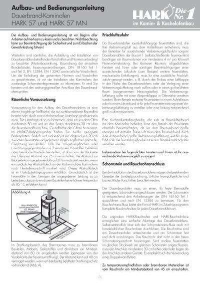 kaminofen anleitung hark 57. Black Bedroom Furniture Sets. Home Design Ideas