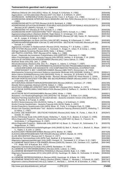 testverzeichnis g