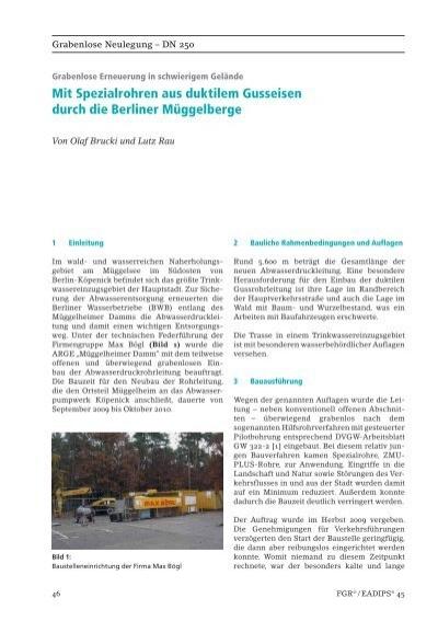Mit Spezialrohren aus duktilem Gusseisen durch die Berliner ...