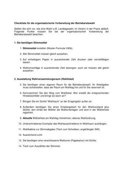 Checkliste Als Pdf Betriebsrat Com