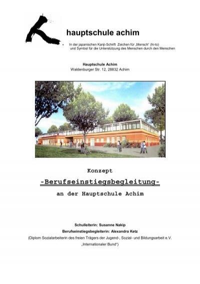 Konzept Berufseinstiegsbegleitung An Der Hauptschule Achim Nibis