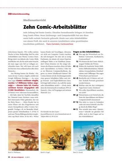 Zehn Comic-Arbeitsblätter - schulpraxis